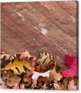 Utah, Autumn Leaves Piled Canvas Print