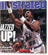 Utah Jazz Karl Malone, 1997 Nba Finals Sports Illustrated Cover Canvas Print