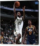 Utah Jazz V Milwaukee Bucks Canvas Print