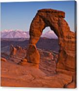 Utahs Delicate Arch At Dusk Canvas Print
