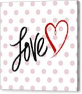 Valentine's Love Canvas Print