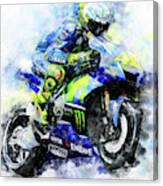 Valentino Rossi - 18 Canvas Print