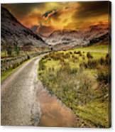 Valley Sunset Snowdonia Canvas Print