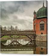 Vallo Castle Wooden Moat Bridge Canvas Print