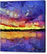 Van Gogh Sunset Reflection Canvas Print