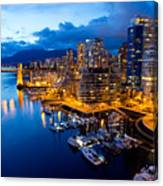 Vancouver Night View Canvas Print