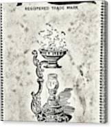 Vapo-cresolene Vaporizer Original Packaging Black And White Canvas Print