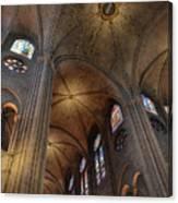 Vaults Of Notre Dame De Paris Before The Fire Of 2019 Canvas Print