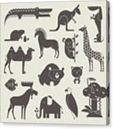 Vector Animals Set Canvas Print
