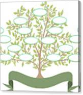 Vector Family Tree With Blank Spaces To Canvas Print