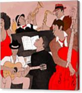 Vector Illustration Of A Jazz Band Canvas Print