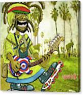 Venice Beach Rasta Roller Canvas Print