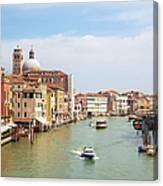 Venice Grand Canal Scene, Veneto Italy Canvas Print