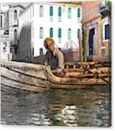 Venice Pause In The Evening Canvas Print
