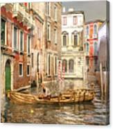 Venice The Little Yellow Duck Canvas Print