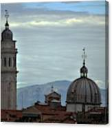 Venice Tower And Dome Canvas Print