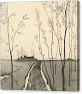 Verfolgung, From The Series Radierte Skizzen Canvas Print