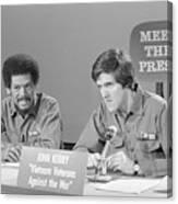 Veterans Hubbard And Kerry On Meet Canvas Print