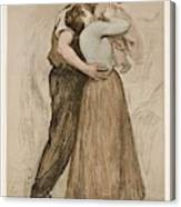 Victor Emile Prouve  French  1858   1943 The Kiss  Le Baiser  1898  Collotype On Wove Paper Canvas Print