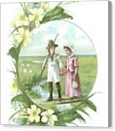 Victorian Illustration Of A Shepherd Canvas Print
