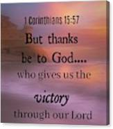 Victorious Verses 1 15 57 Canvas Print