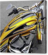 Victory Motorcycle 106 Gas Tank And V-twin Engine Canvas Print