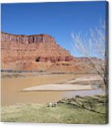 View From A Cabin At Sorrel River Ranch On The Colorado River Ne Canvas Print