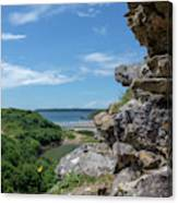 View From Pennard Castle Square Canvas Print