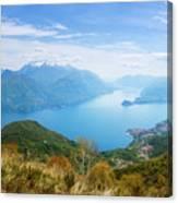 View From Rifugio Menaggio Lake Como Italy Canvas Print