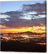 View Of Cabo San Lucas At Sunset Canvas Print