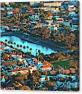 View Of Molteno Reservoir - Cape Town Canvas Print