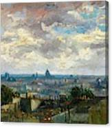 View Of Paris - Digital Remastered Edition Canvas Print