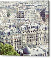 View Of Roofs Of Paris Canvas Print