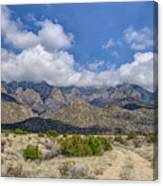 View Of Sandia Mountain Canvas Print