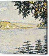 View Of The Seine At Herblay     Canvas Print