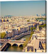 View On Paris Form Notre Dame Cathedral Canvas Print