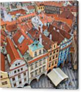 View Over The Rooftops Of The Old Town Canvas Print