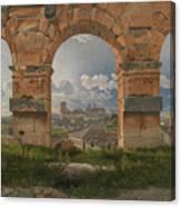 View Through Three Arches Of The Third Canvas Print