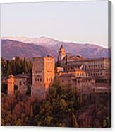 View To The Alhambra At Sunset Canvas Print