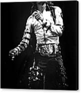 Views Of Michael Jackson Concert During Canvas Print