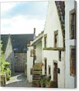village cobbled lane in Culross Canvas Print