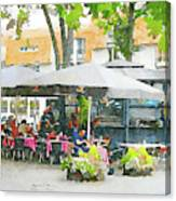 Vilnius Summer Time Leisure Time  Canvas Print