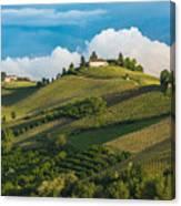 Vineyards Of Langhe, Piedmont, Unesco Canvas Print