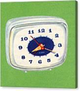 Vintage 1950s Alarm Clock Canvas Print