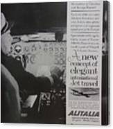 Vintage Alitalia Airline Advertisement Canvas Print