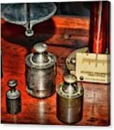 Vintage Apothecary Pharmacist Weights And Scale Canvas Print