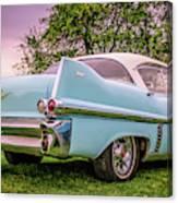 Vintage Blue Caddy American Vintage Car Canvas Print