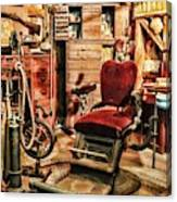 Vintage Dentist Office And Drill Canvas Print