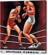 Vintage Italian Boxing Poster Canvas Print