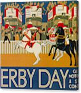 Vintage Poster - Derby Day Canvas Print